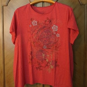 Short sleeve plus size soft graphic tee 3X NWOT